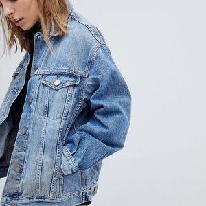 brand new! asos oversized denim jacket